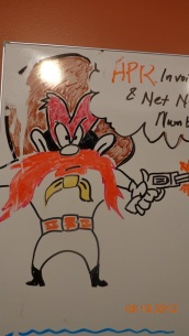 Yosemite Sam in Dry-Erase Markers