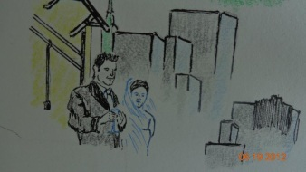 Kemper & Susan in Pen/Charcoal
