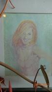 Rachel in Colour Pencils