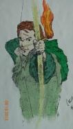 Robin Hood in Pencil/Ink/Marker