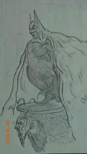 The Batman in Pencil