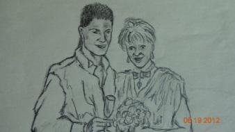 Jim & Meredith in Pencil