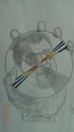 Self Portrait in Pencil/Marker