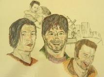 Best Friends - Tad/Kemper/Derek in Colour Pencil