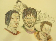 Best Friends - Tad/Kemper/Derek in Colour Pencil