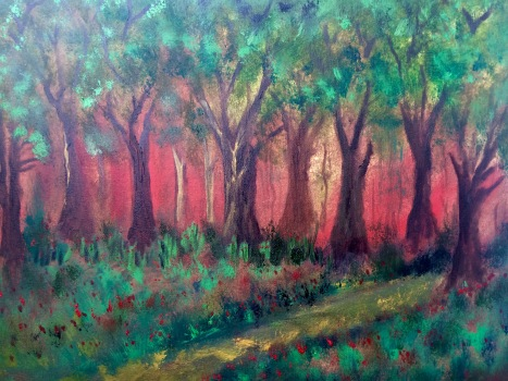 "18x24 Oil Painting. ""Sherwood Forrest"""
