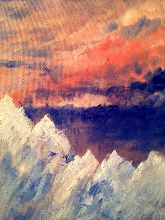 Mountains Under a Bloody Sky