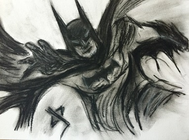 Batman in charcoal