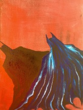 "9x12 Acrylic Painting ""Batman"" (unfinished)"