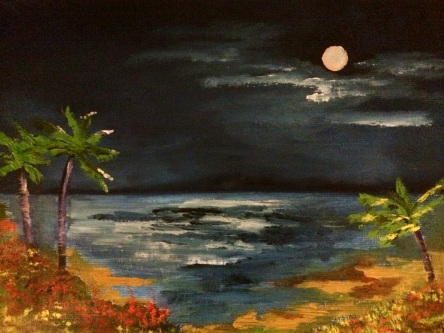 "9x12 Oil Painting. ""Cabo with Bunny & Bear"" (Sold)"