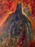 "6x8 Oil Painting on Masonite Board. ""The Dark Knight"""