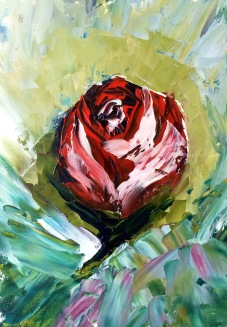 Rose (done with oils and palette knife)