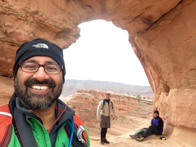 Selfie with DaveRisner and the Wiser Amuser under Frame Arch