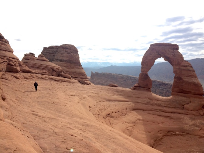 Delicate Arch, picture taken while standing under Frame Arch