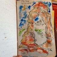 Delicate Arch (watercolours)