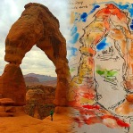 Delicate Arch (the inspiration for the finished watercolor & ink)