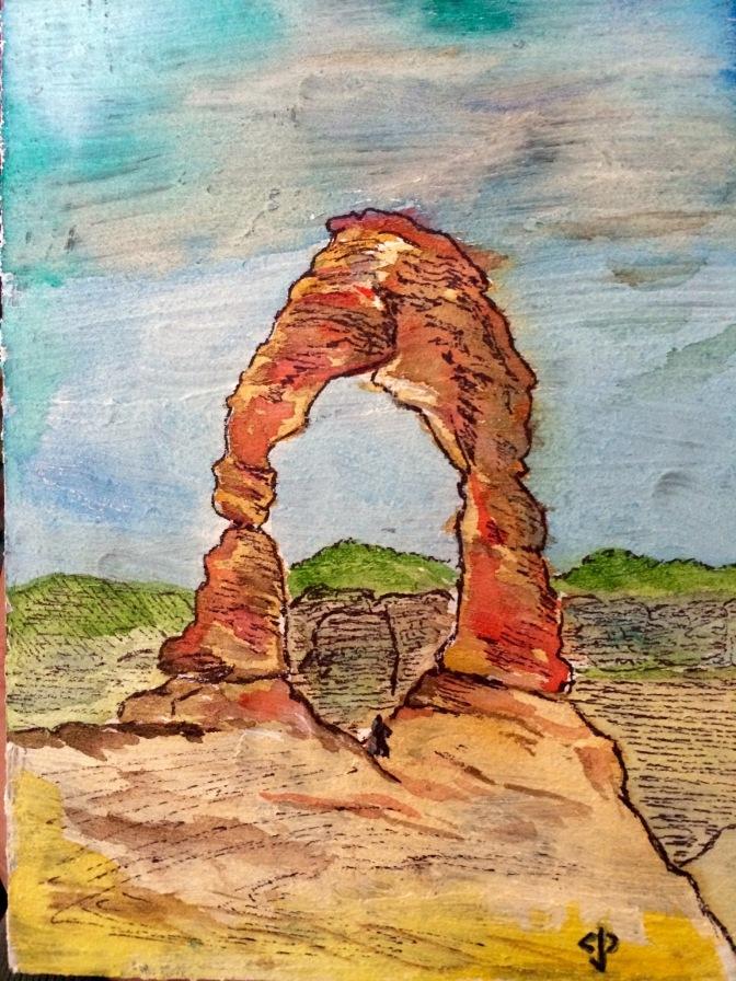 Watercolor of Delicate Arch