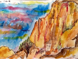 Yosemite (watercolors and ink)