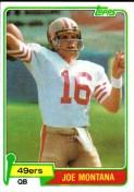 1980 Joe Montana Topps Rookie Card