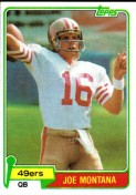 1980 Joe Montana Topps Rookie Card