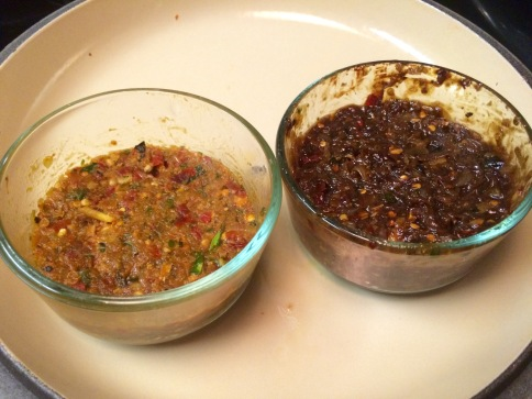 Panang Curry (left) & Thai Chili (right)