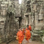 Monks Walking into Battle
