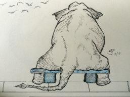 Elephant love in Pen & Ink