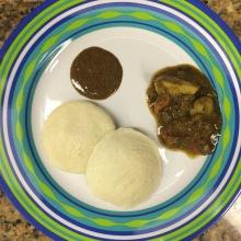 breakfast: idlee with sambar