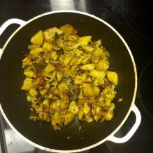 lunch: cauliflower & potatoes