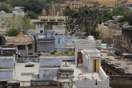 view of Pushkar from the Hotel Paramount rooftop