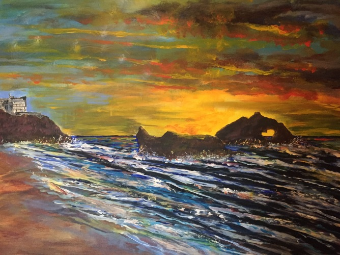 Lands End - 36x48 Acrylic Painting