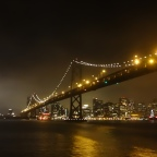 The Bay Bridge and the San Francisco Skyline