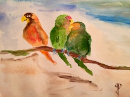 Secret of My SucCecil: Watercolour of Lovebirds