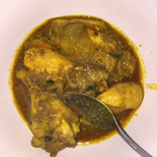 Plated Mint Chicken Vindaloo