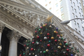 The tree in the Financial District in New York City