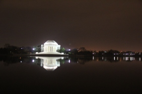 Walking towards the Jefferson Memorial