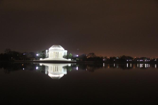 Walking towards the Jefferson Memorial