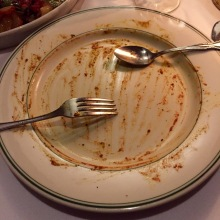 Empty Plate. Full Stomach.