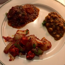 Lamb Vindaloo, Channa Masala, Chicken Karahi