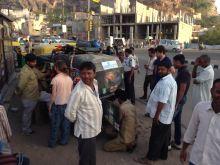 Loading up at Fort Jaisalmer
